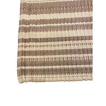Spura Home Cotton Striped Mão Tecida Bege Oriental Tapete 24x40