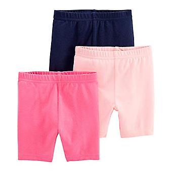 Simple Joys van Carter's Girls' 3-Pack Bike Shorts, Pink, Navy, 12 Maanden