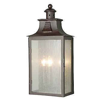 3 Lys udendørs væg Lantern Light Gamle Bronze IP44, E14
