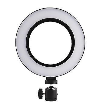 Käännettävä selfie rengas jalustalla LED-valot, 20 cm - musta