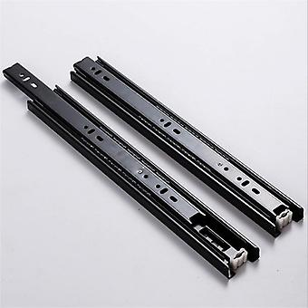 (1 Pair) Of 3 Section Sliding Rails For Drawers With Full Extension With 10