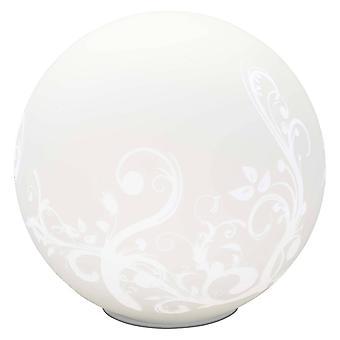 BRILLIANT Lamp Bona Pöytävalaisin Valkoinen | 1x A60, E27, 60W, sopii normaaleille valaisimista (ei sisälly pakkaukseen) | Skaalaa A++–E