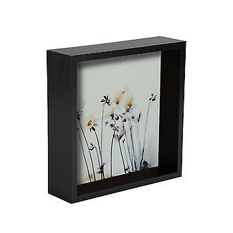 Nicola Primavera 2 pieza caja de la foto marco conjunto - 6 x 6 marco de acrílico cuadrado - negro