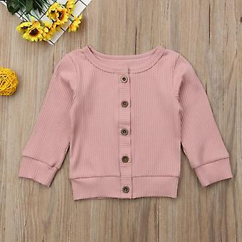 Casual Soft Newborn Baby Coats Solid Kids Toddler Knitted Sweater Cardigan