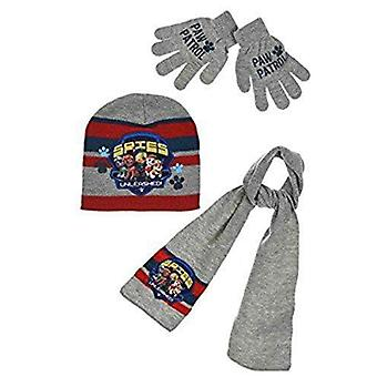 Paw patrol boys hat scarf and gloves set