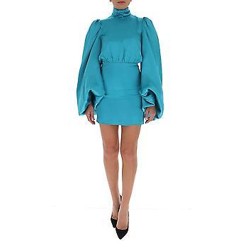 Attico 202wca02v011027 Kvinnor's Ljusblå Viskos klänning