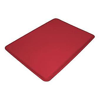 Anti fatigue mat high impact foam cushioned mat with non slip back red