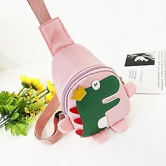 Carino Cartoon Harness Outdoor Travel Zaino Cross-body Dinosaur Chest Bag per bambini's