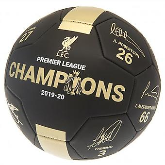 Liverpool Premier League Champions Football Signature PH