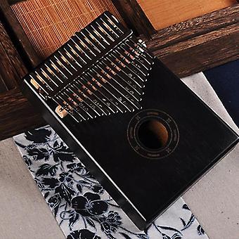17 Keys Kalimba Thumb Piano, Made By Single Board -high-quality Wood Mahogany