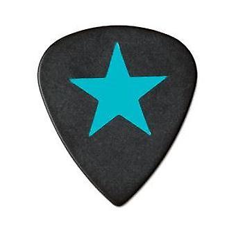 6 Pickboy Angel Rocks - Guitar Picks/Plectrums - Blue Star - Black 1.00mm