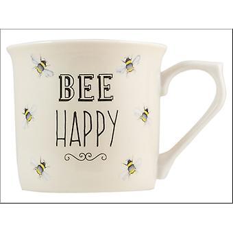 English Tableware Company Bee Happy Mug Fine China Cream DD0909D02