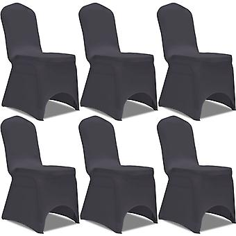 Stretch chair cover 6 pieces anthracite