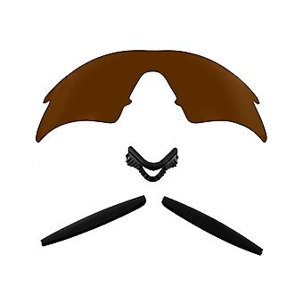 Polarizovaná náhradní čočka & sada pro rám Oakley M Sweep Brown & černý vyhlazené vyhlazení UV400 od SeekOptics