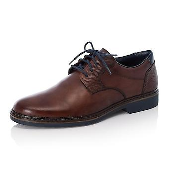 Rieker 16541-25 Men's Smart Casual Lace-up Shoes In Brown Leather