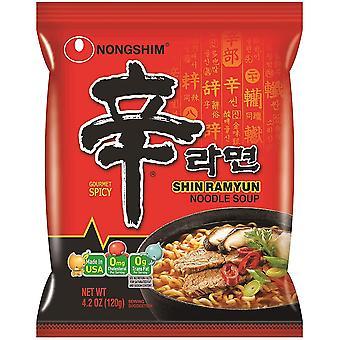 Instant Noodle Shin Noodle Ramen Ramyun Gourmet Spicy (120g)
