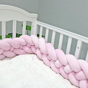 Long Knotted 4 Braid Bed Bumper Pillow