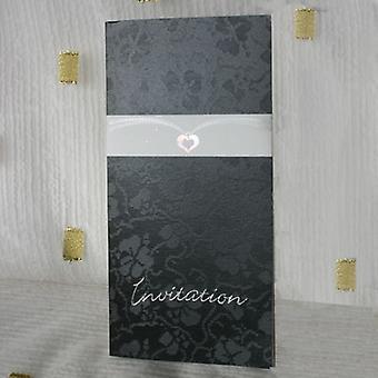 Décoration d'enveloppement de carte de pendentif de coeur