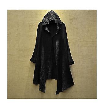 Veste Autumn Hoodie Long Plus Size Men Coat (noir One Size)