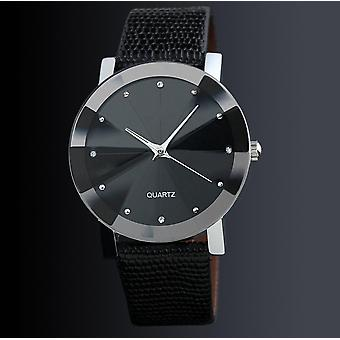 Men Vintage Classic Stainless Steel Waterproof Date Leather Strap Sport Quartz