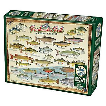 Cobble hill puzzle - freshwater fish of north america