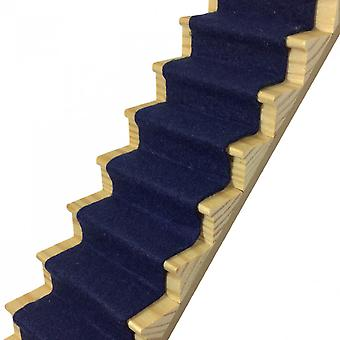 Dolls House Midnight Blue Wool Mix Stair Carpet Runner Auto Adhésif Plancher