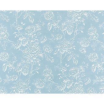 Dolls House Tiffany Reverse Light Blue Miniature Print Wallpaper 3