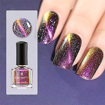 3d Magnetic Glitter Nail Polish - Cat Eye Varnish Base Needed