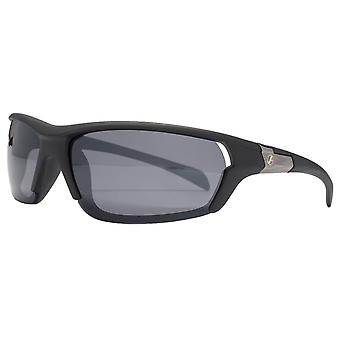 Freedom Overlaid Sports Wrap Sunglasses - Black