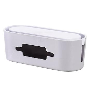 Desktop-Kabel-Organizer-Management-Box Schnur Aufbewahrung Box Handy Halter Tablet Stand Home Office verwenden