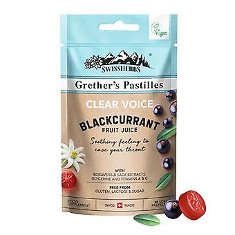 Grether's Clear Voice Blackcurrant Pastilles 45g