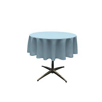 La Leinen Polyester Poplin Tischdecke 51-Zoll rund, hellblau