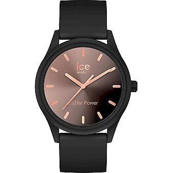 ساعة يد Ice Watch ICE للطاقة الشمسية - غروب الشمس أسود - صغير - 3H - 018477