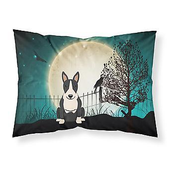 Caroline's Treasures Halloween Scary Bull Terrier Black White Fabric Standard Pillowcase Bb2323Pillowcase