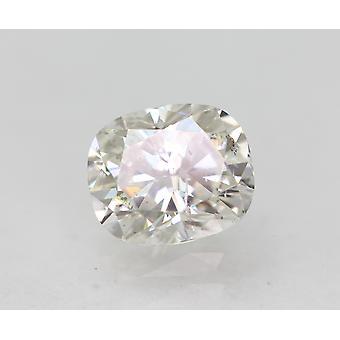معتمد 0.54 قيراط E اللون VS2 وسادة الماس فضفاضة الطبيعية 5.39x4.56mm 2VG