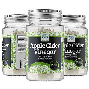 Äppelcidervinäger 1000mg - premium kvalitet tillägg, 180 kapslar - 180 dagar leverans - uk made - v
