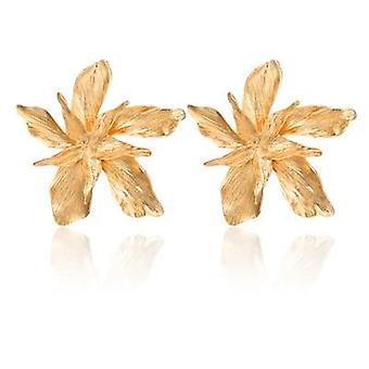 Elegance kulta iso kukka roikkuu korvakorut naisille
