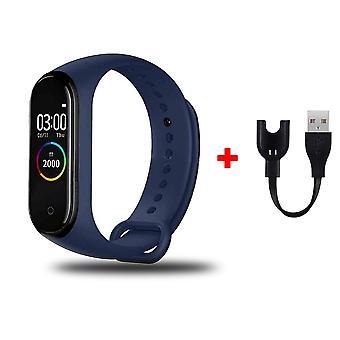 Waterproof Wristband Blood Pressure Heart Rate Monitor 4 Fitness Tracker