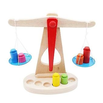 Balance Scale With 6 Weights Baby Montessori Preschool Toy
