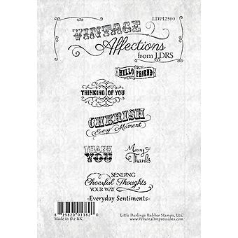 Little Darlings Clear Stamps - Everyday Sentiments