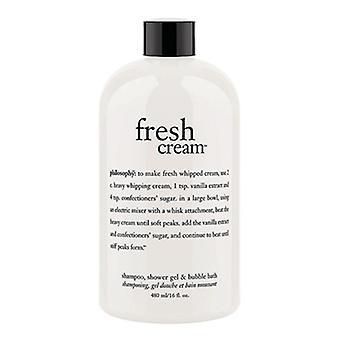 Philosophy Fresh Cream Shampoo, Shower Gel, & Bubble Bath 16oz / 480ml