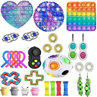 30pcs Pack Сенсорная игрушка Установить Антистресс помощи Fidget игрушки