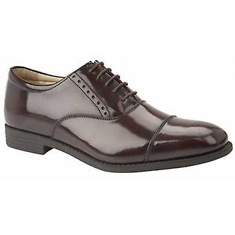 TredFlex Bradford Mens Hi-shine Leather Oxford Shoes Oxblood