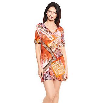 Féraud Beach 3215090-16541 Women's Ornamental Print Beach Dress