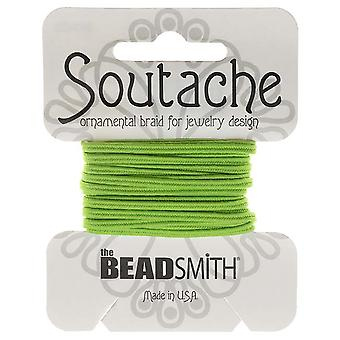 Final Sale - The Beadsmith Soutache Braided Cord 3mm Wide - Limelight Green (3 Yards)