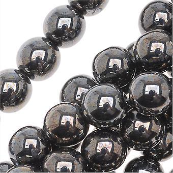 """זכוכית צ'כית דרוק חרוזים עגולים 8 מ""""מ המטייט (25)"""