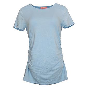 All Worthy Hunter McGrady Women's Top Jersey Side Ruching Blue A378717