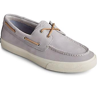 Sperry Bahama Plushwave Mens Leather Boat Shoes Grey