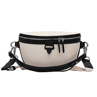 Rento Korkealaatuisia laukkuja naisille Messenger Bag Lady Chest Crossbody Naisten Käsilaukut (Musta)
