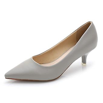 Women Med High Heels Pointed Toe Heeled Shoes